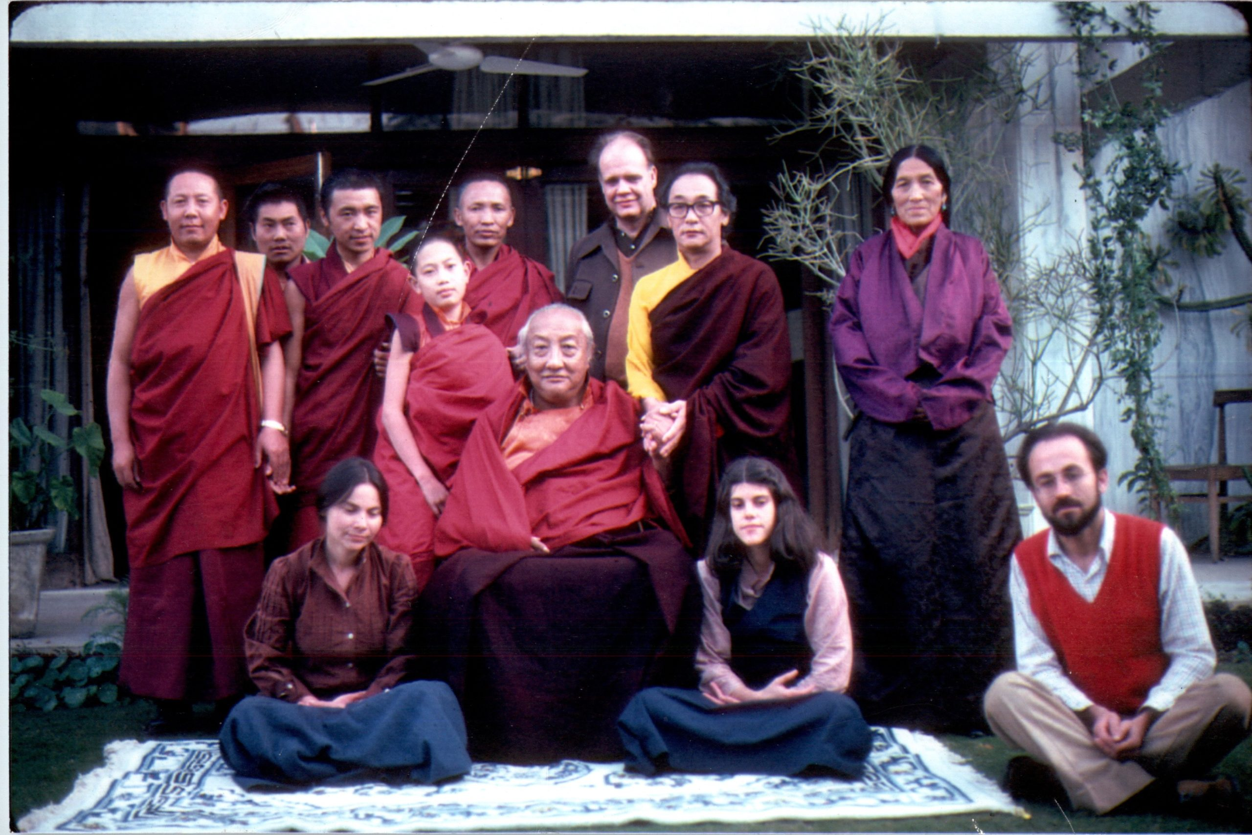 Gene Smith with Dilgo Khyentse and others