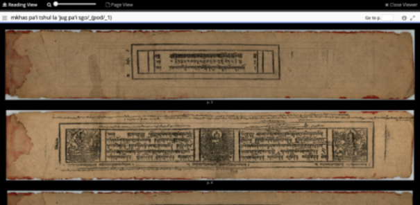 Buddhist Universal Digital Archive image e-text viewer
