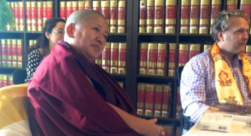 H.H. Khandro Rinpoche and Executive Director Jeff Wallman at TBRC