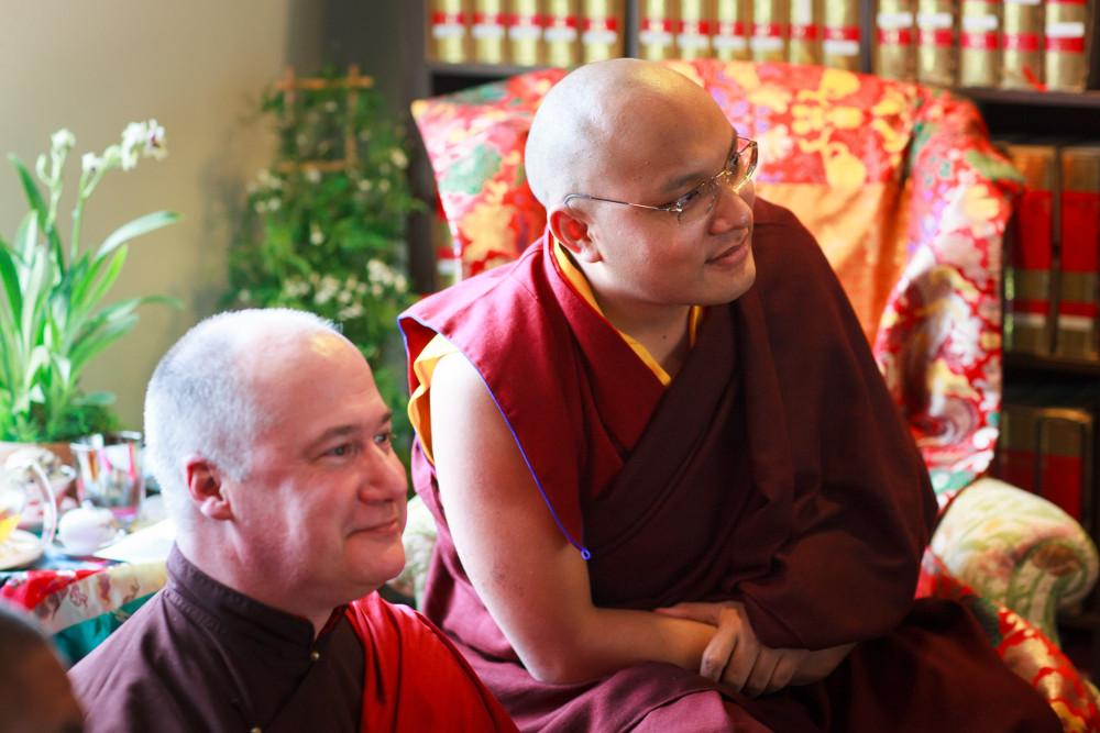 His Holiness the Karmapa blessing the TBRC office