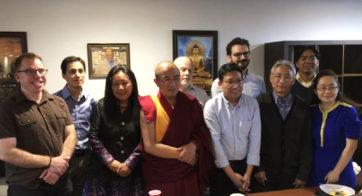 Khenpo Sodargye with BDRC staff