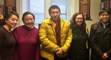 Kyabgön Phakchok Rinpoche with TBRC staff and Lama Willa Miller