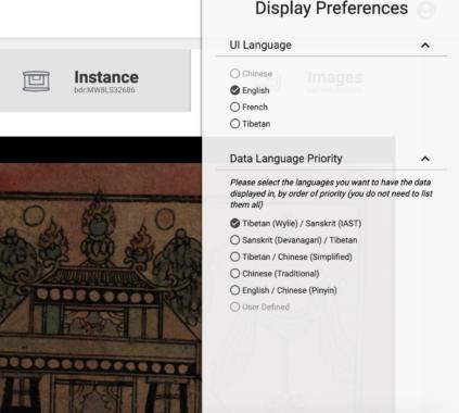 BUDA's interface options