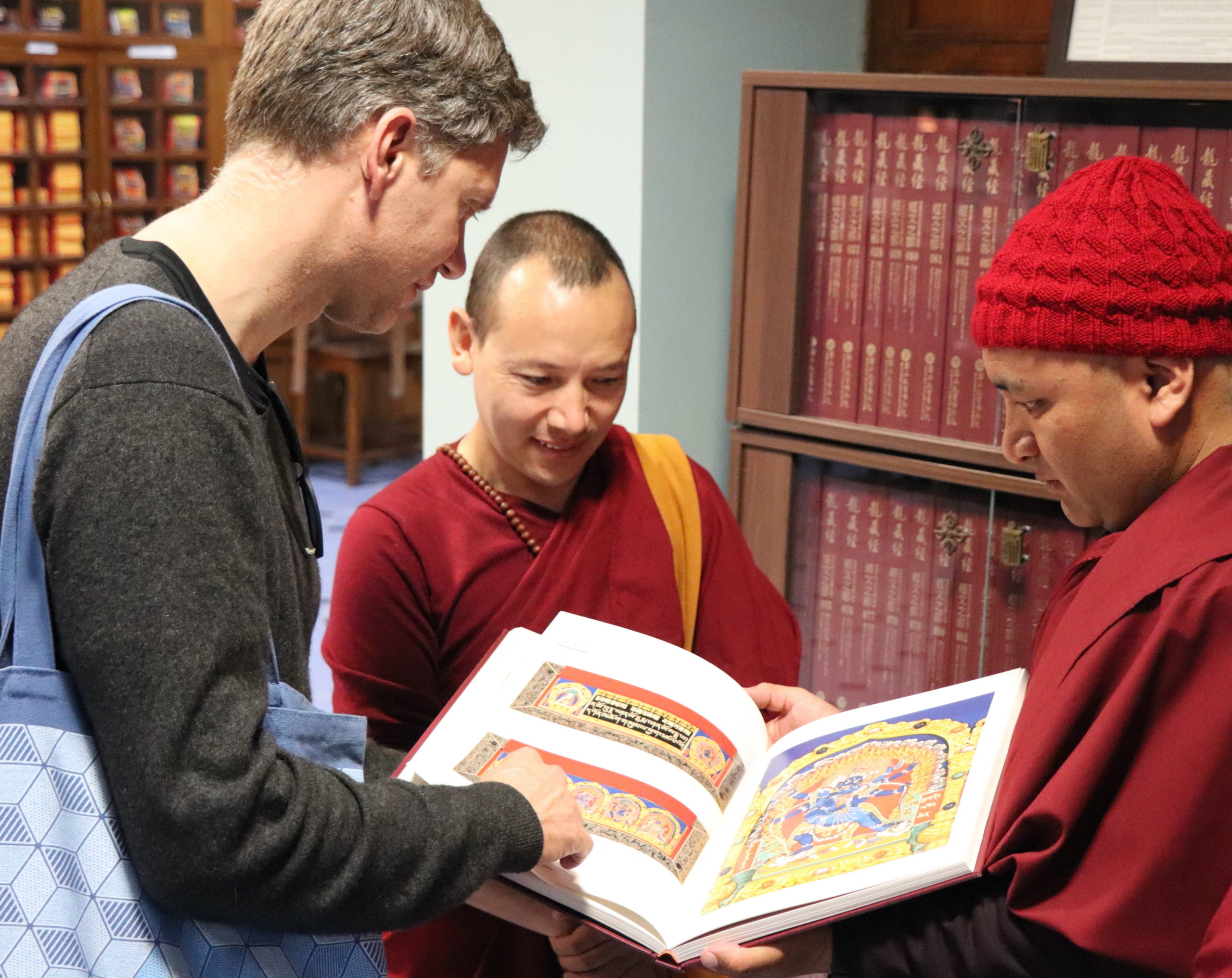 Jann Ronis with monks