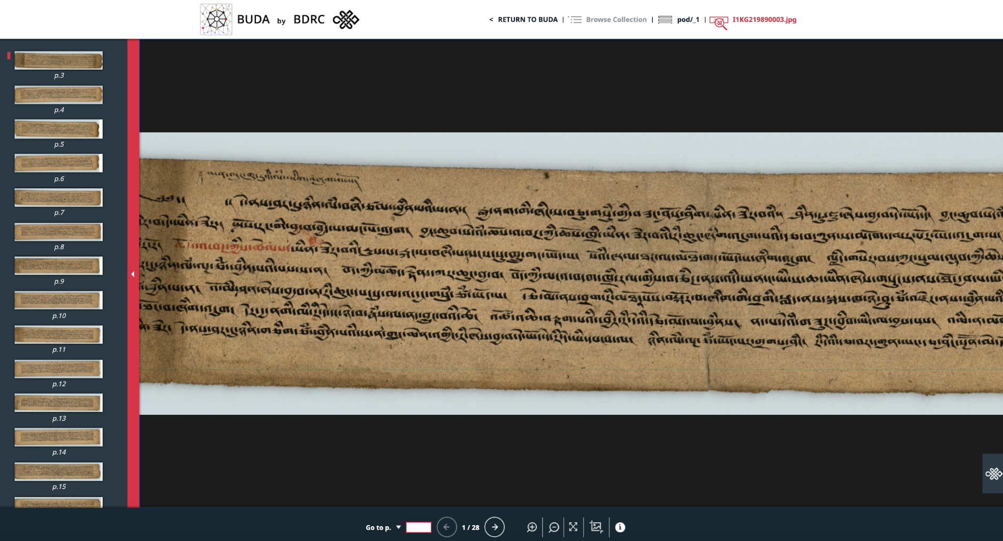 Image of the Page view of the IIIF viewer