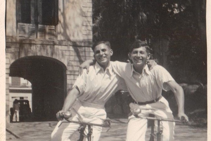 Peter (right) and his brother in Darjeeling, in the 1940s.